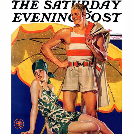JC Leyendecker Saturday Evening Post 1927_08_27 Copyright crop | Best of 1920s Ad and Cover Art