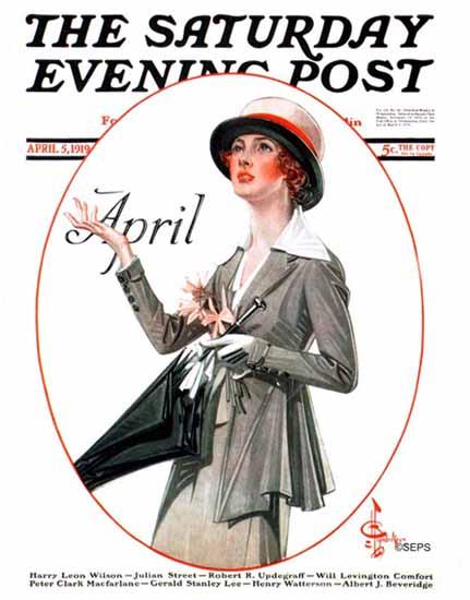 JC Leyendecker Saturday Evening Post April 1919_04_05 | The Saturday Evening Post Graphic Art Covers 1892-1930