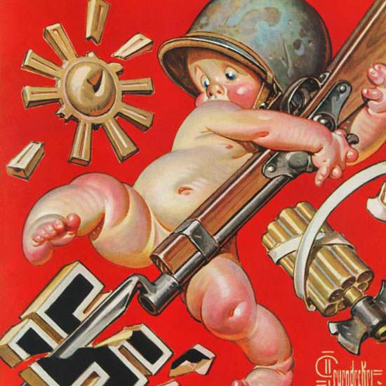 JC Leyendecker Saturday Evening Post Baby 1943_01_02 Copyright crop   Best of Vintage Cover Art 1900-1970