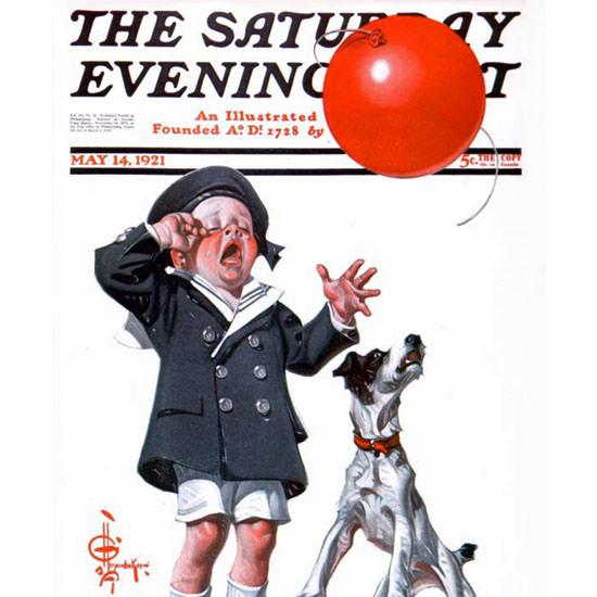 JC Leyendecker Saturday Evening Post Balloon 1921_05_14 Copyright crop | Best of Vintage Cover Art 1900-1970