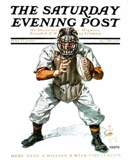 JC Leyendecker Saturday Evening Post Baseball 1909_05_15   The Saturday Evening Post Graphic Art Covers 1892-1930