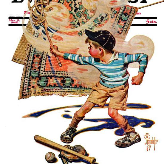 JC Leyendecker Saturday Evening Post Beater 1940_05_11 Copyright crop | Best of Vintage Cover Art 1900-1970