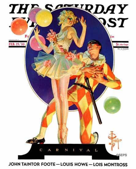 JC Leyendecker Saturday Evening Post Carnival 1933_02_25 | The Saturday Evening Post Graphic Art Covers 1931-1969