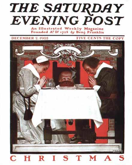 JC Leyendecker Saturday Evening Post Christmas 1905_12_02 | The Saturday Evening Post Graphic Art Covers 1892-1930