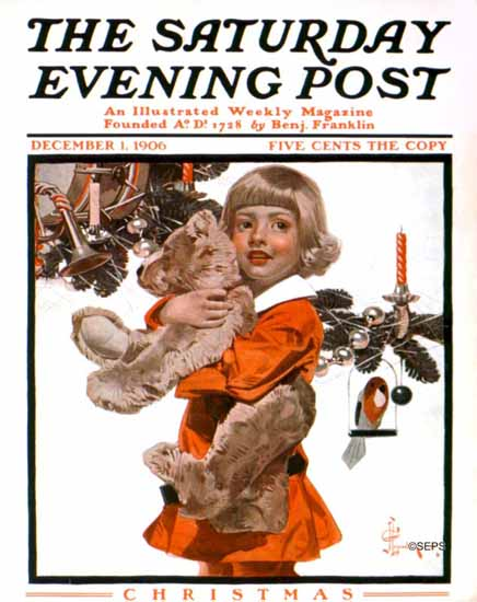 JC Leyendecker Saturday Evening Post Christmas 1906_12_01 | The Saturday Evening Post Graphic Art Covers 1892-1930