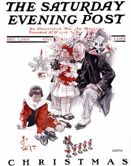 JC Leyendecker Saturday Evening Post Christmas 1907_12_07 | The Saturday Evening Post Graphic Art Covers 1892-1930