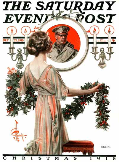 JC Leyendecker Saturday Evening Post Christmas 1918_12_21 | The Saturday Evening Post Graphic Art Covers 1892-1930