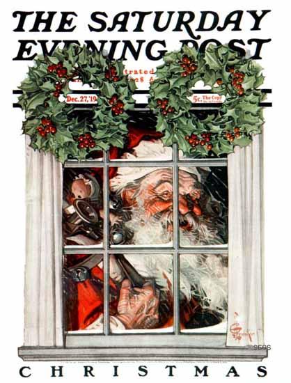 JC Leyendecker Saturday Evening Post Christmas 1919_12_27 | The Saturday Evening Post Graphic Art Covers 1892-1930