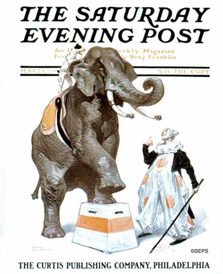 JC Leyendecker Saturday Evening Post Circus 1908_05_23 | The Saturday Evening Post Graphic Art Covers 1892-1930