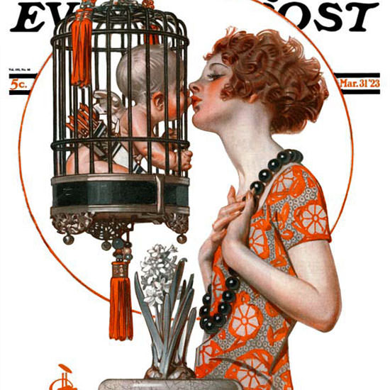 JC Leyendecker Saturday Evening Post Cupid 1923_03_31 Copyright crop | Best of 1920s Ad and Cover Art