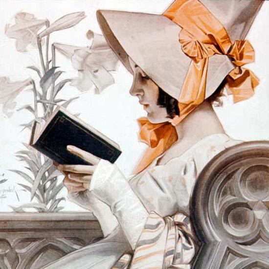 JC Leyendecker Saturday Evening Post Easter 1905_04_22 Copyright crop | Best of Vintage Cover Art 1900-1970