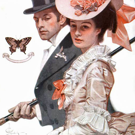 JC Leyendecker Saturday Evening Post Easter 1906_04_07 Copyright crop | Best of Vintage Cover Art 1900-1970