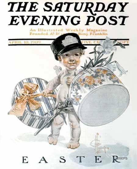 JC Leyendecker Saturday Evening Post Easter 1909_04_10 | The Saturday Evening Post Graphic Art Covers 1892-1930