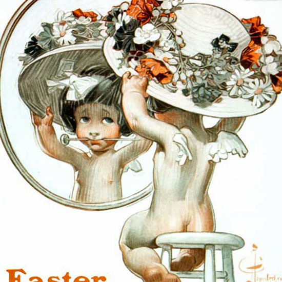 JC Leyendecker Saturday Evening Post Easter 1910_03_26 Copyright crop | Best of Vintage Cover Art 1900-1970