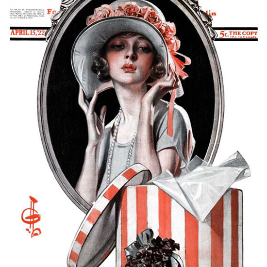 JC Leyendecker Saturday Evening Post Easter 1922_04_15 Copyright crop | Best of Vintage Cover Art 1900-1970