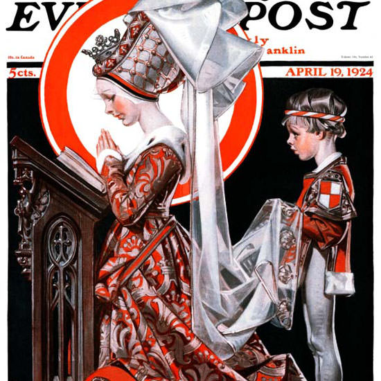 JC Leyendecker Saturday Evening Post Easter 1924_04_19 Copyright crop | Best of 1920s Ad and Cover Art