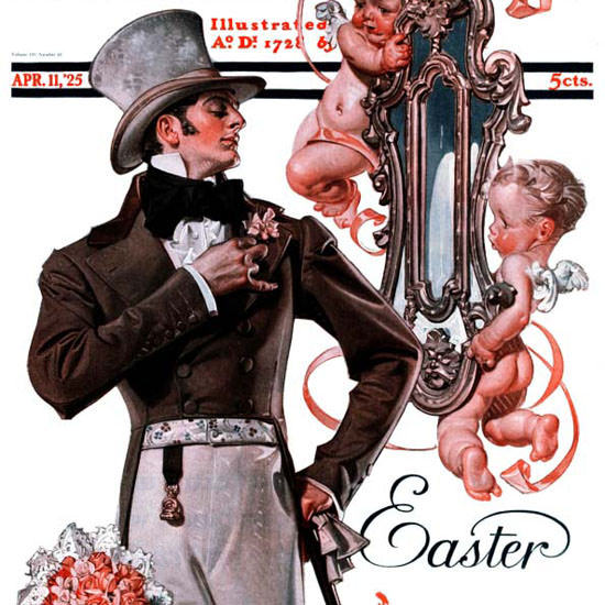 JC Leyendecker Saturday Evening Post Easter 1925_04_11 Copyright crop | Best of Vintage Cover Art 1900-1970