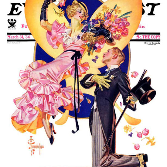 JC Leyendecker Saturday Evening Post Easter 1934_03_31 Copyright crop | Best of 1930s Ad and Cover Art