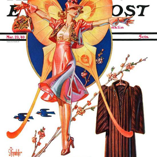 JC Leyendecker Saturday Evening Post Easter 1940_03_23 Copyright crop   Best of Vintage Cover Art 1900-1970