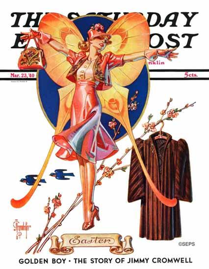 JC Leyendecker Saturday Evening Post Easter Fashion 1940_03_23 | The Saturday Evening Post Graphic Art Covers 1931-1969