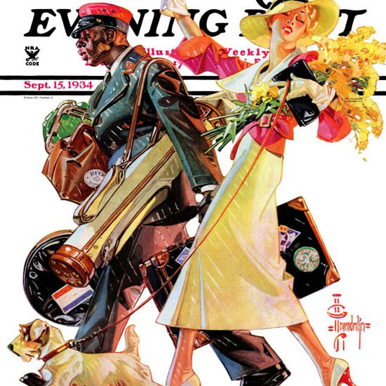 JC Leyendecker Saturday Evening Post End 1934_09_15 Copyright crop | Best of 1930s Ad and Cover Art