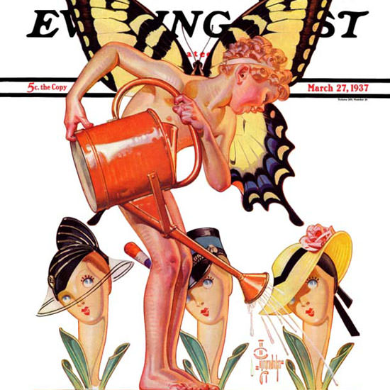 JC Leyendecker Saturday Evening Post Fairy 1937_03_27 Copyright crop | Best of 1930s Ad and Cover Art