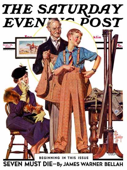 JC Leyendecker Saturday Evening Post First Long Suit 1937_09_18 | The Saturday Evening Post Graphic Art Covers 1931-1969