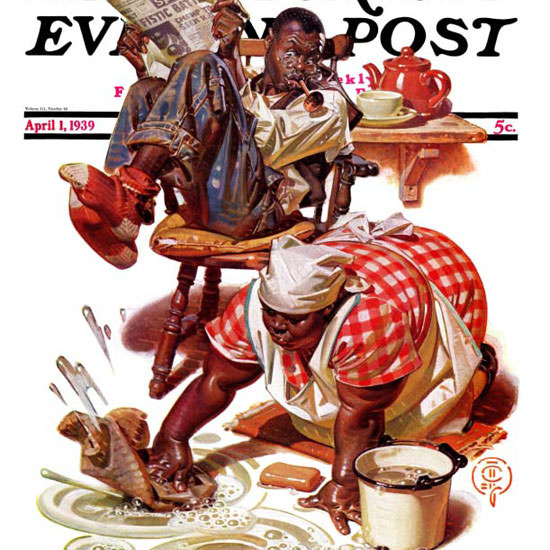 JC Leyendecker Saturday Evening Post Floor 1939_04_01 Copyright crop | Best of 1930s Ad and Cover Art