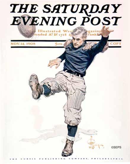 JC Leyendecker Saturday Evening Post Football 1908_11_14 | The Saturday Evening Post Graphic Art Covers 1892-1930