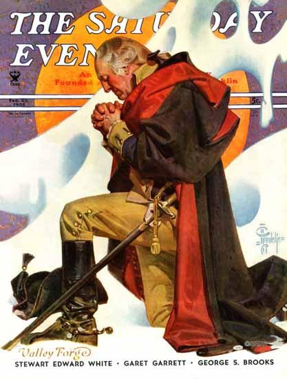 JC Leyendecker Saturday Evening Post George Washington 1935_02_23   The Saturday Evening Post Graphic Art Covers 1931-1969