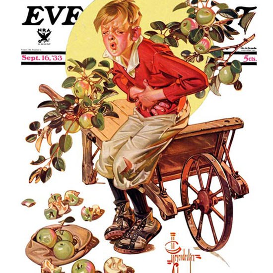 JC Leyendecker Saturday Evening Post Green 1933_09_16 Copyright crop | Best of 1930s Ad and Cover Art