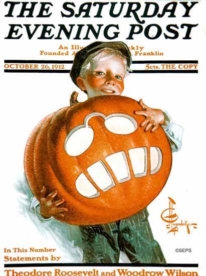 JC Leyendecker Saturday Evening Post Halloween 1912_10_26 | The Saturday Evening Post Graphic Art Covers 1892-1930