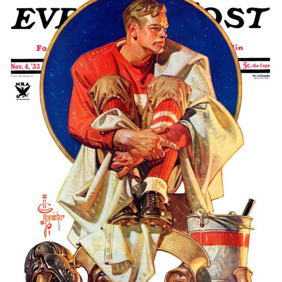 JC Leyendecker Saturday Evening Post Hero 1933_11_04 Copyright crop | Best of Vintage Cover Art 1900-1970