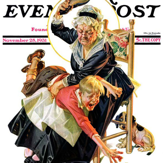 JC Leyendecker Saturday Evening Post In Jam 1931_11_28 Copyright crop | Best of 1930s Ad and Cover Art