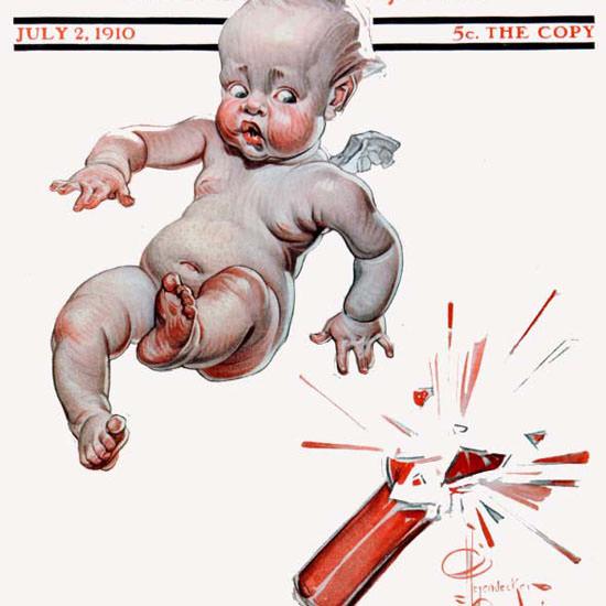 JC Leyendecker Saturday Evening Post July 4th 1910_07_02 Copyright crop | Best of Vintage Cover Art 1900-1970