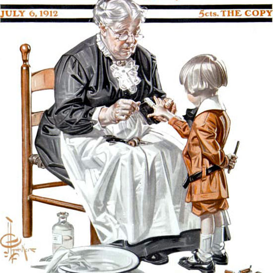 JC Leyendecker Saturday Evening Post July 4th 1912_07_06 Copyright crop | Best of Vintage Cover Art 1900-1970