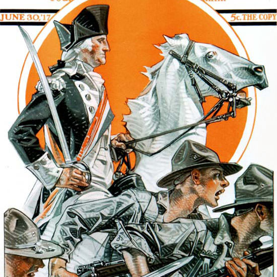 JC Leyendecker Saturday Evening Post July 4th 1917_06_30 Copyright crop | Best of Vintage Cover Art 1900-1970