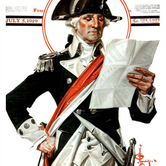 JC Leyendecker Saturday Evening Post July 4th 1919_07_05 Copyright crop | Best of Vintage Cover Art 1900-1970