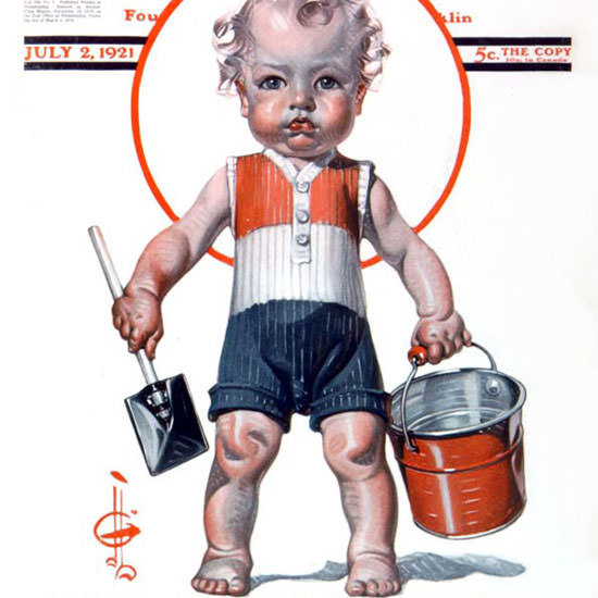 JC Leyendecker Saturday Evening Post July 4th 1921_07_02 Copyright crop | Best of 1920s Ad and Cover Art