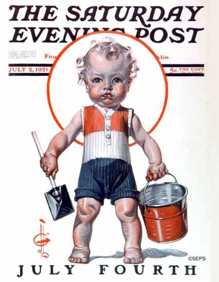 JC Leyendecker Saturday Evening Post July 4th 1921_07_02   The Saturday Evening Post Graphic Art Covers 1892-1930