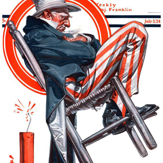 JC Leyendecker Saturday Evening Post July 4th 1924_07_05 Copyright crop | Best of 1920s Ad and Cover Art