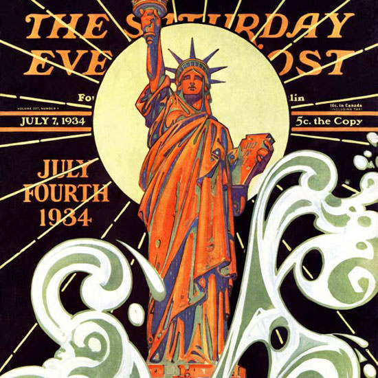 JC Leyendecker Saturday Evening Post Liberty 1934_07_07 Copyright crop | Best of 1930s Ad and Cover Art