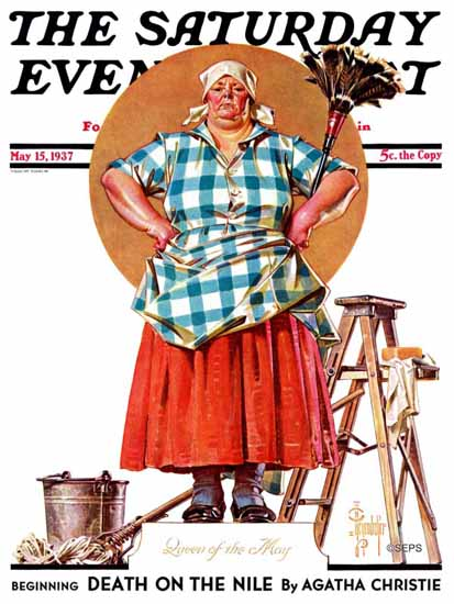 JC Leyendecker Saturday Evening Post May Queen 1937_05_15 | The Saturday Evening Post Graphic Art Covers 1931-1969