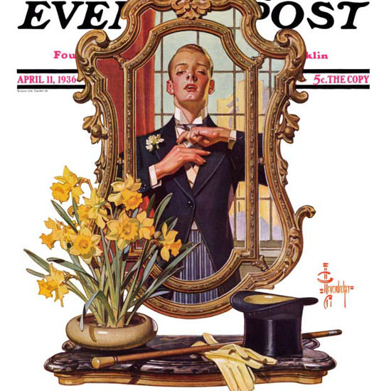 JC Leyendecker Saturday Evening Post Mirror 1936_04_11 Copyright crop | Best of 1930s Ad and Cover Art