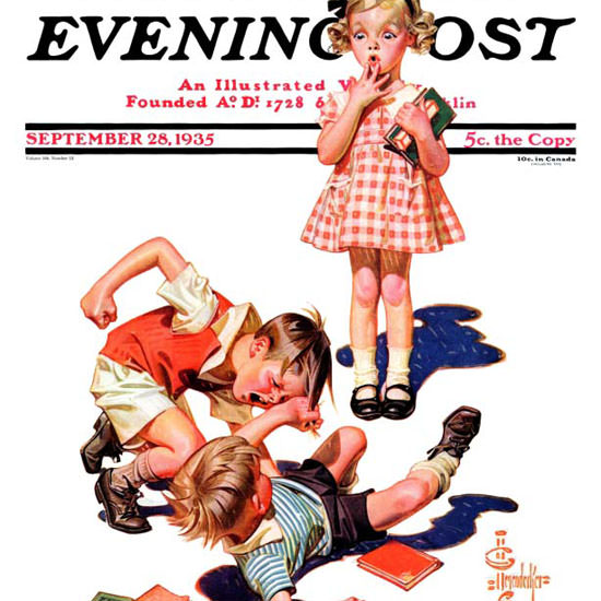 JC Leyendecker Saturday Evening Post My Girl 1935_09_28 Copyright crop | Best of 1930s Ad and Cover Art