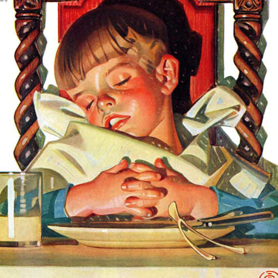 JC Leyendecker Saturday Evening Post Nap 1938_11_26 Copyright crop | Best of 1930s Ad and Cover Art