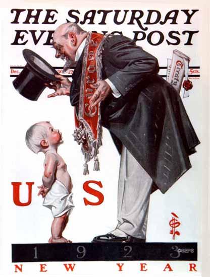 JC Leyendecker Saturday Evening Post New Year 1922_12_30   The Saturday Evening Post Graphic Art Covers 1892-1930