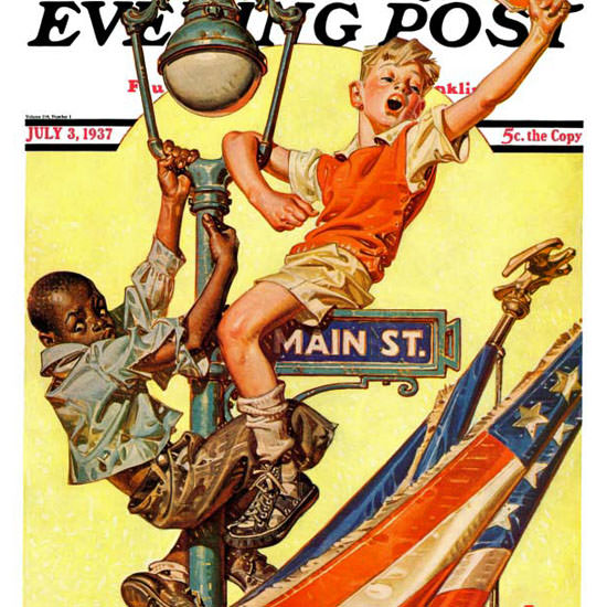 JC Leyendecker Saturday Evening Post Parade 1937_07_03 Copyright crop | Best of 1930s Ad and Cover Art
