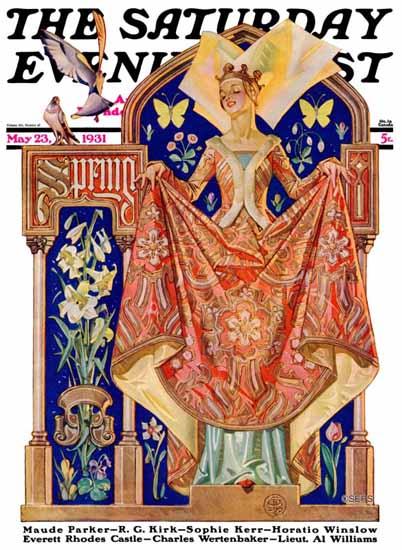 JC Leyendecker Saturday Evening Post Queen of Spring 1931_05_23 | The Saturday Evening Post Graphic Art Covers 1931-1969