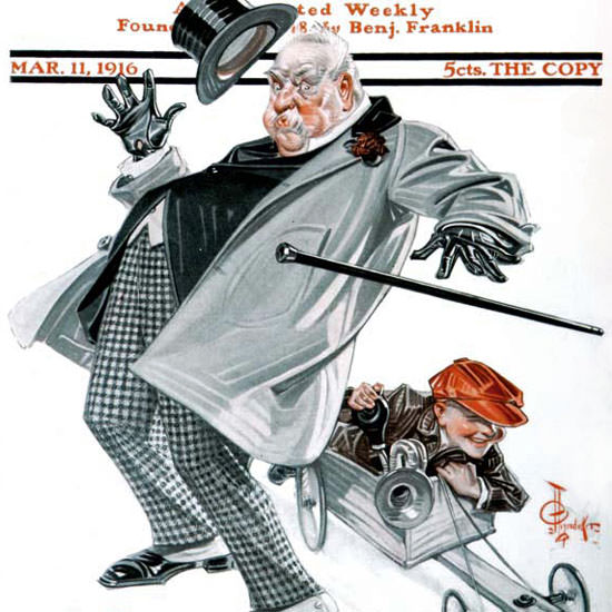 JC Leyendecker Saturday Evening Post Racer 1916_03_11 Copyright crop | Best of Vintage Cover Art 1900-1970